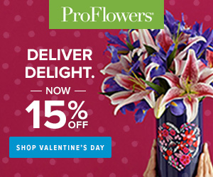ProFlowers Promo Code - 15% off Valentine's Day Flowers & Gifts at ProFlowers - 300 x 250