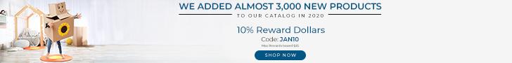 New Year - New products | 10% Reward Dollars | Code: JAN10