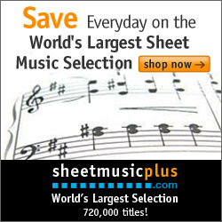 Sheet Music Plus 250 x 250 Generic Banner