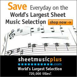 Sheet Music Plus 250 x 250 Generic Banner