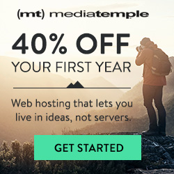 40% Off on Annual Media Temple Hosting Plans