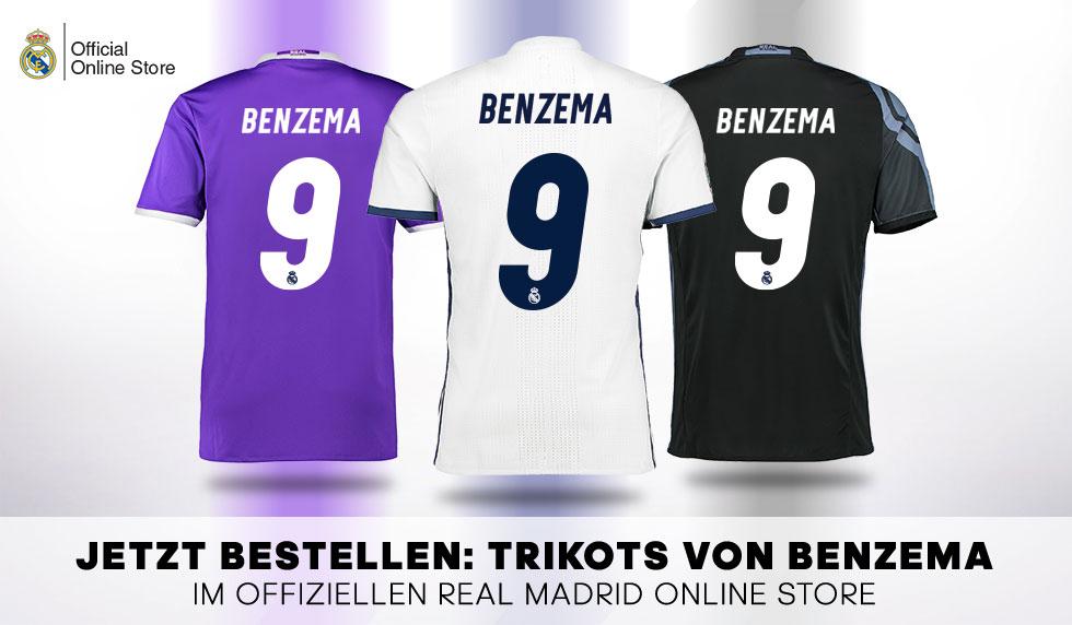 Trikot Original Real Madrid Karim Benzema Adidas Offiziell