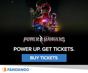 Fandango - Power Rangers Ticketing Banner