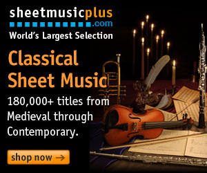 Sheet Music Plus 300 x 250 Classical Banner