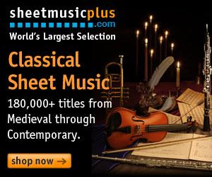 Sheet Music Plus 300 x 250 Classical Banner