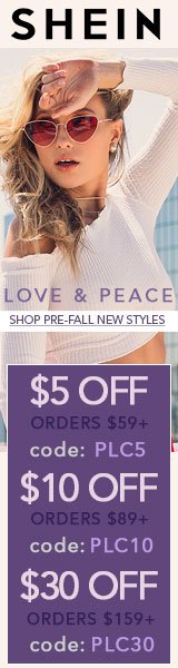 Love and Peace! Shop new Pre-Fall Styles and Enjoy $30 off orders $159+ with coupon code PLC30 at S