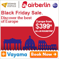 Discover Europe with airberlin. Compare, Book & Save with Vayama™.