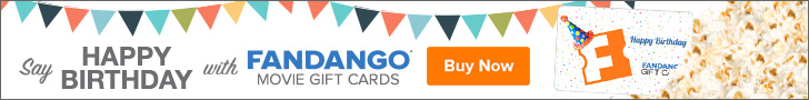 Fandango Birthday Gift Cards