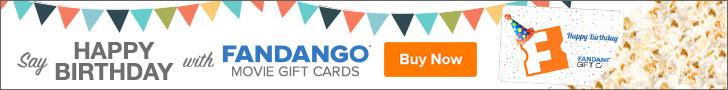 Fandango Birthday Gift Cards