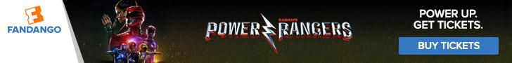 Fandango - Power Rangers Ticketing Banner