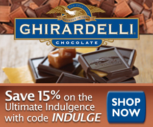 ave 15% on Ghirardelli Chocolate Gifts