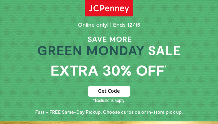 JCPenney Green Monday Sale: Take an Extra 30% off on Select Styles