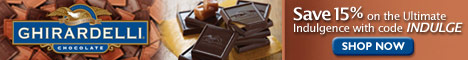 Save 15% on Ghirardelli Chocolate Gifts