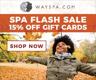 WaySpa Fall Flash Sale 15% Off