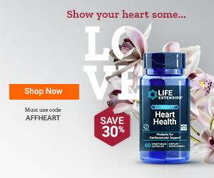 Life Extension Discount Code 2021 Valentine's Day - 30% Off Heart Health