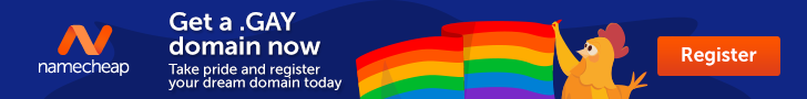 Take pride and register a .GAY domain today!