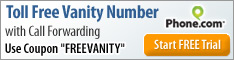 234x60 Toll Free Vanity Number Coupon