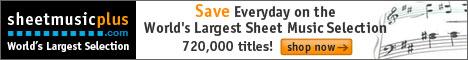 Sheet Music Plus 486  x 60 Generic Banner
