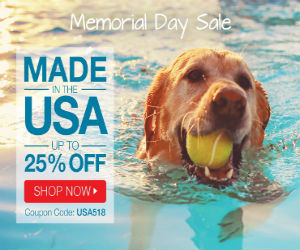 Memorial Day Sale! Up to 25% Off with code USA518 at OnlyNaturalPet.com! Valid until 5/29.