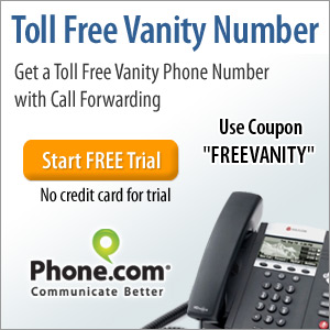 Get your free vanity number from Phone.com!