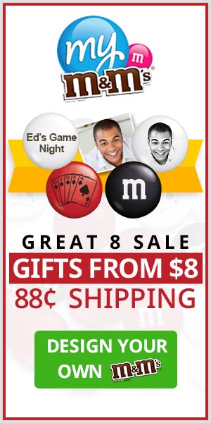 Great 8 Sale! Gifts Start at $8 AND 88¢ shipping on All Orders!