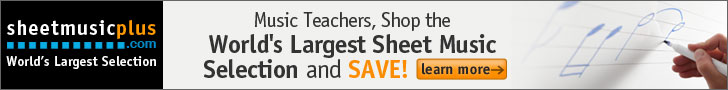 Sheet Music Plus 728 x 90 Teacher Banner