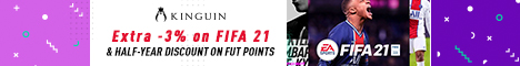 KINGUIN - Save on FIFA 21, Get 6 months discount on FUT points ⚽ – 468×60