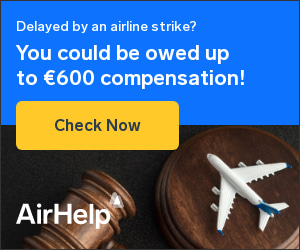 Flight delayed by an airline strike