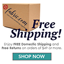 Free Shipping on orders $35+ from Fabrics.com