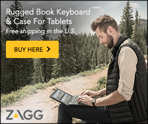 The ZAGG Rugged Book keyboard & case is sturdy and durable - Zagg.com