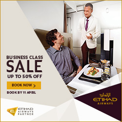 Etihad Business Class Sale
