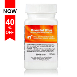 Image for Last Chance to Buy Drontal for Dogs only while stocks Last! Save 40% + Extra Discount & Free Shipping