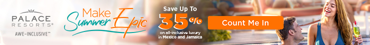 The most wonderful time of the year. Save up to 40% at Palace Resorts. Nov - Dec special.