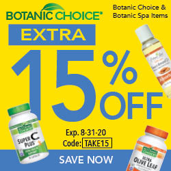 Save 15% on Botanic Choice or Spa products + Free Shipping on Orders $50+