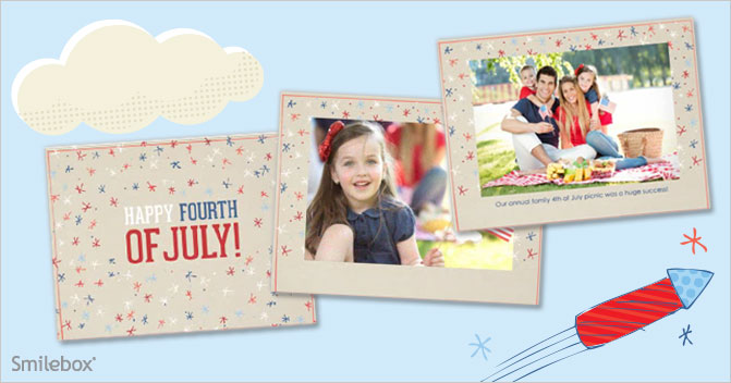 Make a slideshow of 4th of july festivities with Smilebox.