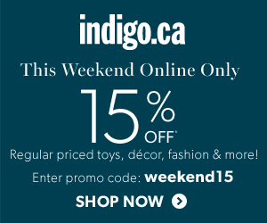 Take 15% Off Toys, Gifts, Home Decor, Baby Products, and More at Indigo.ca!