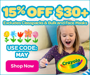 15% Off $30 with MAY