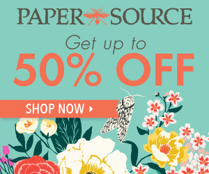 20% off custom items at Paper Source.