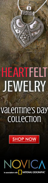 160x600 NOVICA Valentine's Day Jewelry Collection