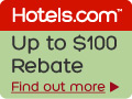 Hotel promo code for up to $100 rebate