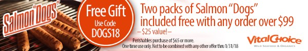 Free Gift With Purchase! Any Order Over $99 Receives Two Packages Of Salmon