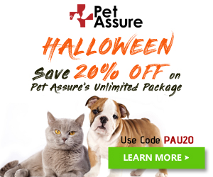Save 20% Off on Pet Assure's Unlimited Package 300x250