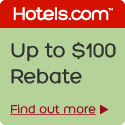 Up to $100 rebate at Hotels.com