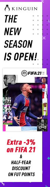 KINGUIN - Save on FIFA 21, Get 6 months discount on FUT points ⚽ – 160×600
