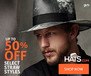 Save up to 50% off select straw hats!