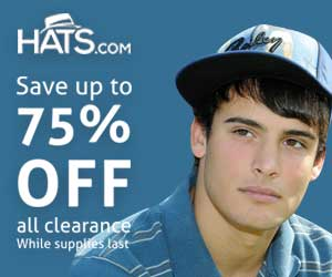 Hats.com - Up to 75% off Clearance 300*250