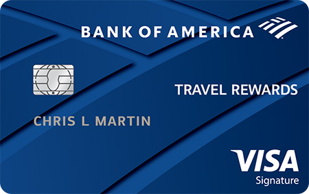 Bank of America Travel Reward Card for rewards. Can let you travel cheap.