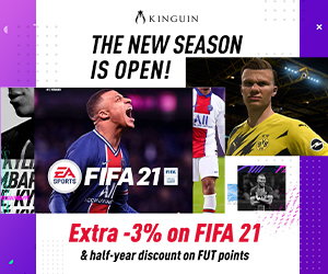 KINGUIN - Save on FIFA 21, Get 6 months discount on FUT points ⚽ – 300×250