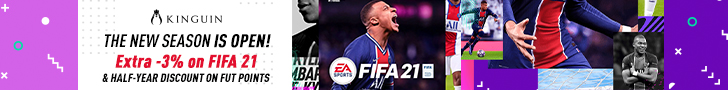 KINGUIN - Save on FIFA 21, Get 6 months discount on FUT points ⚽ – 728×90