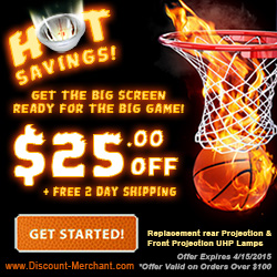 Get the Big Screen ready for the BIG GAME! Save $25 and get 2-day shipping. Coupon Code: bball25